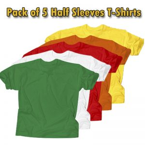 Pack Of 5 Half Sleeves T-Shirts