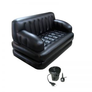 Comfort Quest 5 In 1 Multi-Function Double Airbed / Sofa / Lounger With Electric Sidewinder Pump