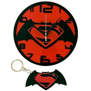 Batman Vs Superman 2016 Wall Clock (Free Key Chain)