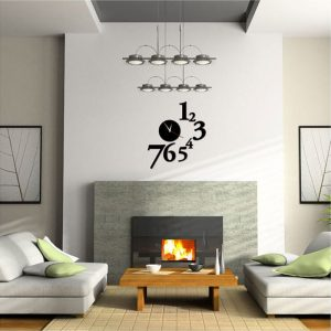 1 To 7 Numbers Round Shape Acrylic Wall Clock