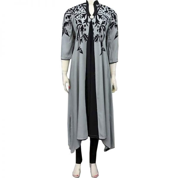 Casual Printed Kurti For Her With Black Tights