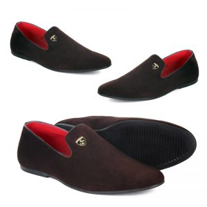 New Style Ferrari Tag Loafers For Him (Brown)