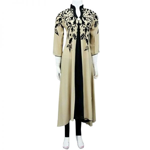 Casual Skin Printed Kurti For Her With Black Tights