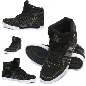 Adidas Casual & Comfortable Black And Yellow Colored Shoes For Him