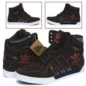Adidas Casual & Comfortable Black And Red Colored Shoes For Him