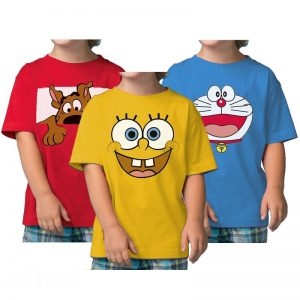 Pack Of 3 Spongebob Kids T-Shirts Combo