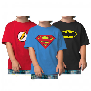 Pack Of 3: Super Hero Kids Combo By C-Tees