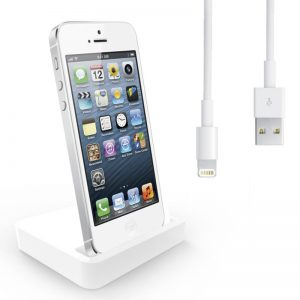 Portable Mini Dock Socle Base Dock Charger With Cable