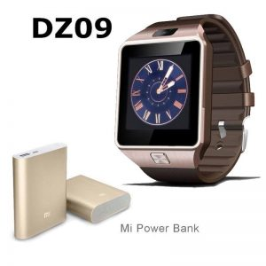 Pack Of 2: Bluetooth Smart Watch + Mi Power Bank In Golden Color (GM)