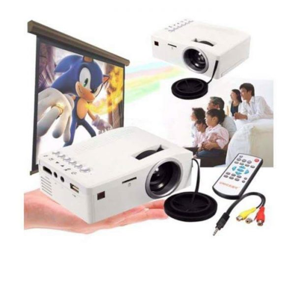 1000 Lumens 3D Mini LED LCD Projector HD 1080P Home Theater(GM)