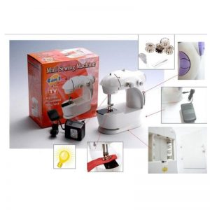 Mini Sewing Machine Portable 4 In 1 With Adapter & Pedal(GM)