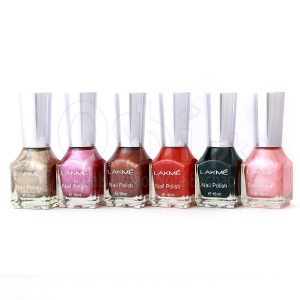 Pack Of 6 Original Lakme Nail Colors