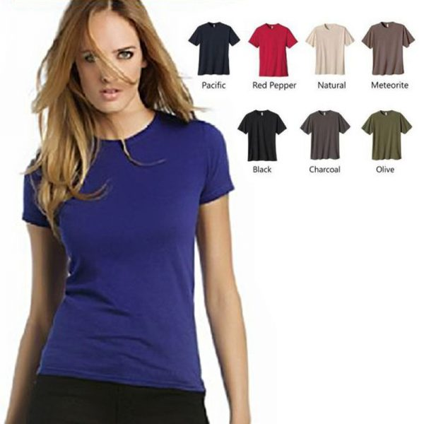 Pack Of 5: Round Neck Half Sleeves Tshirt For Girls (Color Choice)