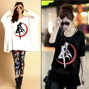 Pack Of 2 Loose Fitting Dancing Girl Printed Top