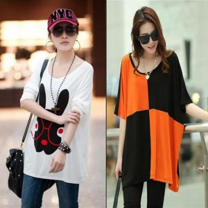 Pack Of 2 Loose Fitting Bunny + Black And Orange Top For Her
