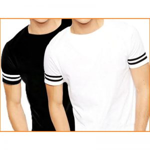 Pack of 2: Designer Round-Neck Tshirts For Men