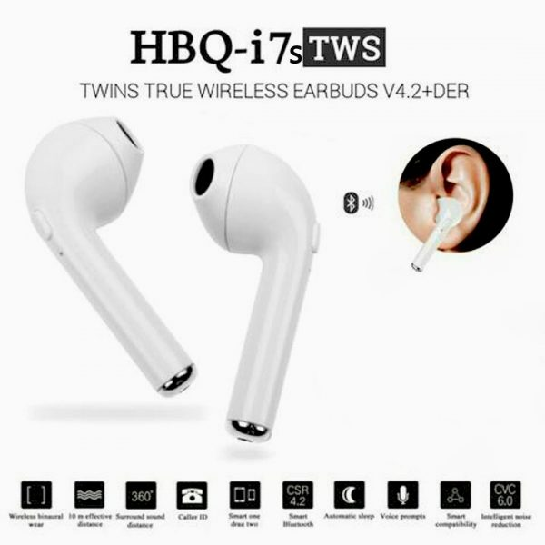 Twin True Wireless Earbuds V4.2+Der H9q I7s with Charging Dock