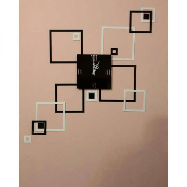 Black And White Square Modern Style Wall Clock 7775