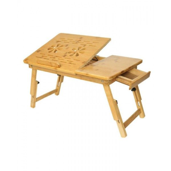 Wooden Laptop Table With 2 Cooling Fans