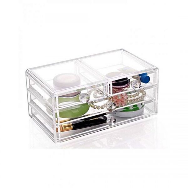 Acrylic Cosmetics and Jewelry Organizer - Transparent