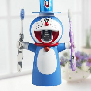 Doraemon Cartoon Automatic Toothpaste Dispenser
