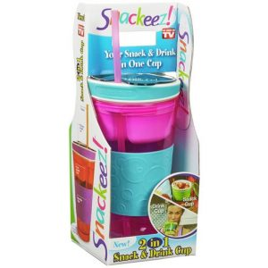 SNAKZ Snackeez Snack & Drink Cup, Multicolor