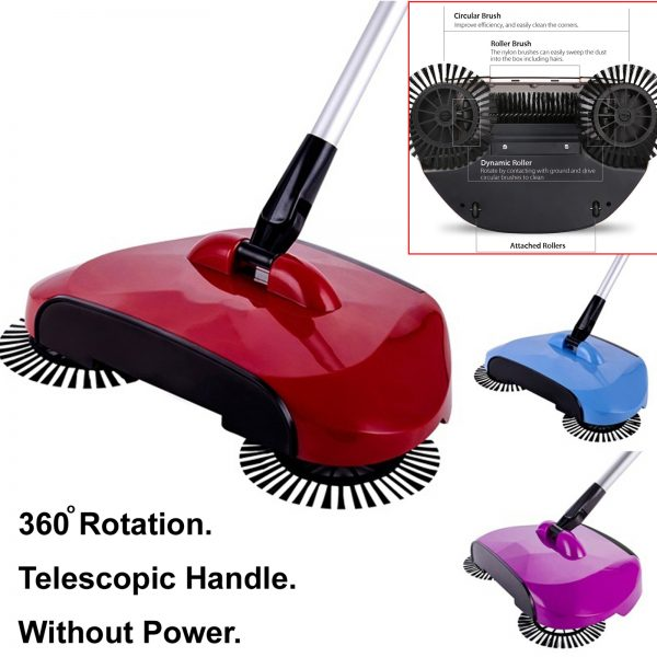 Sweep drag all – in – one No electricity vacuum cleaner 360° sweep the floor machine
